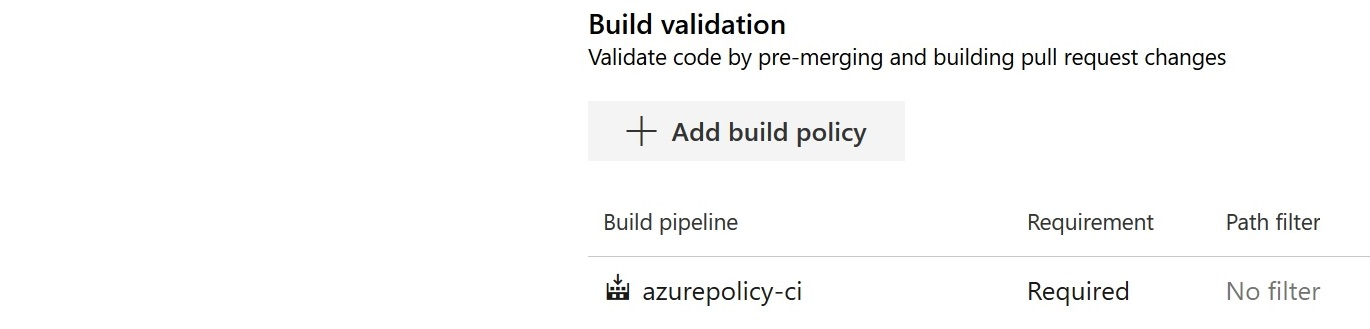 Azure Policy Branch Policy